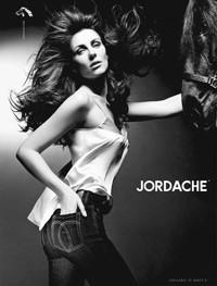 Elizabeth Hurley in Jordache's new ad campaign.