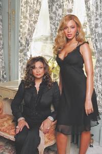 Beyonce and Tina Knowles.