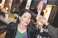 Sadie Frost's hair is straightened with a GHD iron.
