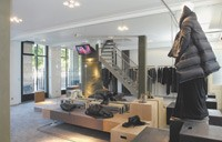 View of the new Rick Owens boutique in Paris.