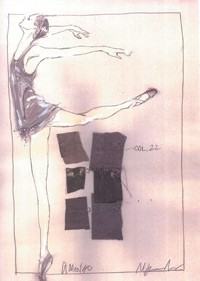 Costumes by Marc Jacobs for a Benjamin Millepied ballet.