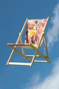 Deck chair by Sir Paul Smith.