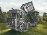 """Wim Delvoye's """"Dump Truck."""""""