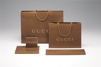 "Gucci's new ""warmer"" packaging."