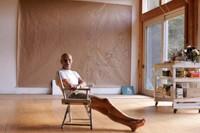 Alex Katz in his studio in Maine.