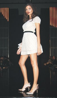 A Look from the William Rast show.