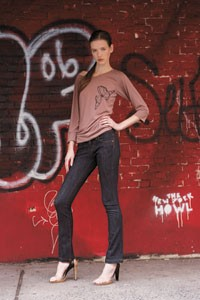 The XFit Lycra jeans by Serfontaine and J Brand.