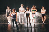 "The cast from "" A Chorus Line"""