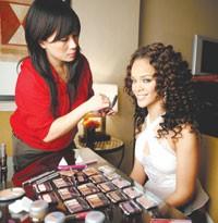 Rihanna and makeup artist Mylah Morales.