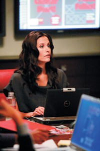 """Courteney Cox on the set of """"Dirt."""""""
