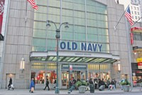 Old Navy reported a same-store sales drop of 10 percent, while Gap comps were off 9 percent.