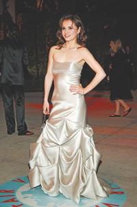 Sasha Cohen at the Oscars.