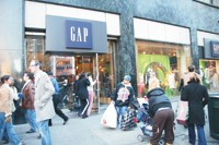 Gap has struggled with thinner crowds in its stores.