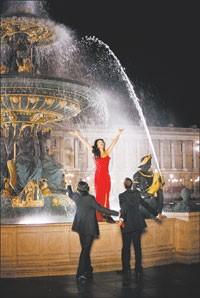 Monica Bellucci strikes a pose in Paris for Dior.