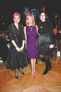 Honorees Rickie Freeman, Lisa Herbert and Cynthia Steffe.