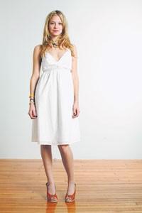 A Swiss dot dress from Charlotte Ronson.