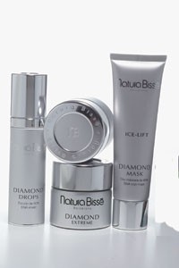 Natura Bisse's Diamond Ice serum, an item from the Diamond line is used in a new facial.