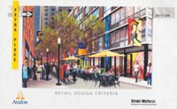 An artist's rendering of Extra Place as a lively pedestrian mall.