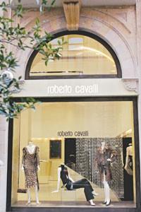 A Roberto Cavalli store in Beirut.