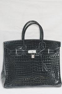 Hermes' diamond-encrusted crocodile Birkin.