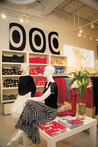 An apparel display at the new Marimekko store in Miami Beach.