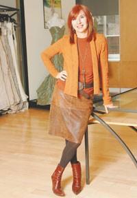 Nicole Miller in her showroom.
