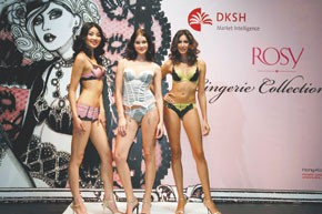 Looks from the Rosy fashion show.
