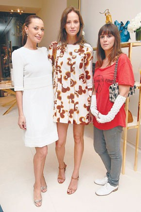 DJ Sky Nellor, Ines Rivero and Cat Power at Chloe's opening party.