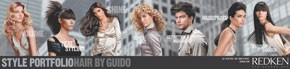 The different hairstyles Guido Palau created for Redken.