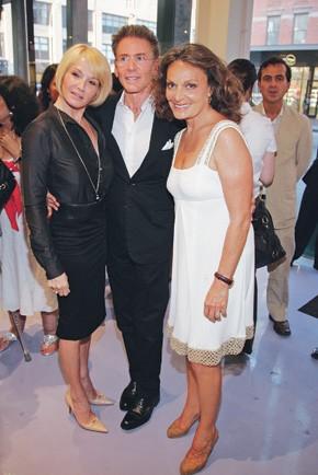 Ellen Barkin, Calvin Klein and Diane von Furstenberg.