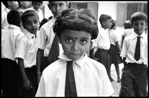 A schoolgirl in Sri Lanka