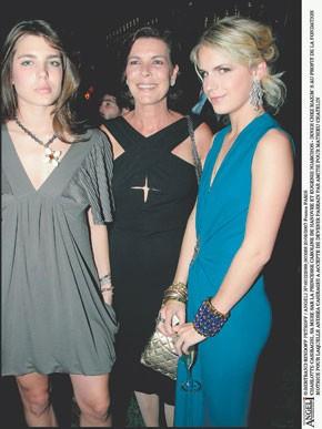 Charlotte Casiraghi, Princess Caroline of Monaco and Eugenie Niarchos.