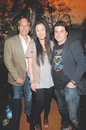 Gene Pressman, Vera Wang and Noah Kerner at Bungalow 8.