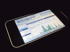 Due Maternity site statistics on the iPhone.