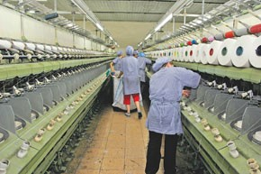 The Altinyildiz Textiles factory.