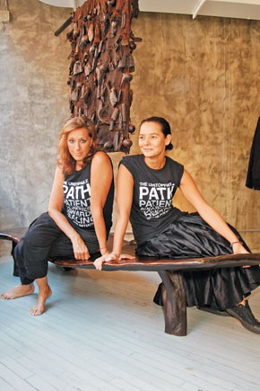 Donna Karan and Sonja Nuttall, co-founders of the Urban Zen Initiative.