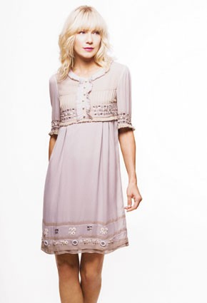 HW Helen Wang's beaded silk dress.