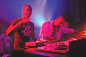 Quentin Harris DJ-ing at Webster Hall with David Morales.