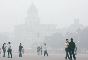 Beijing's omnipresent smog.