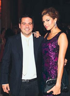 Narciso Rodriguez and Eva Mendes