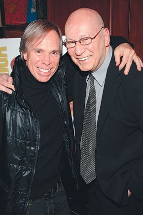 Tommy Hilfiger and George Lois at Rizzoli.