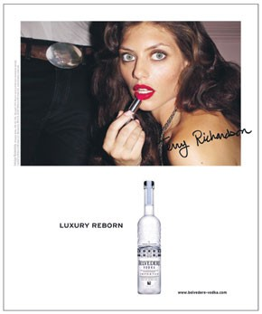 An image from the 2008 Belvedere Vodka campaign.