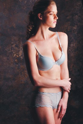 Wacoal Luxe's delicately embellished lace bra and coordinating panty set.