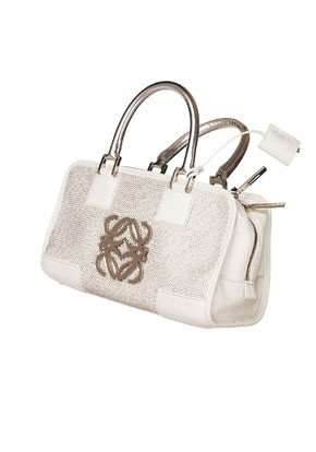 Loewe's crystal bag, made using Swarovski's Chaton Leather technique.