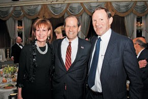Lally Weymouth, Eliot Spitzer and Donald Graham.