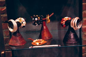 Pieces on display at the store.