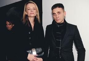 Delphine Arnault and Hedi Slimane