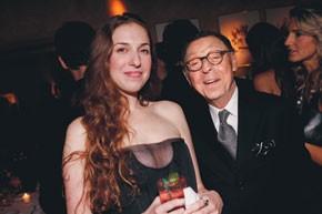 Lyn Devon with James Galanos.