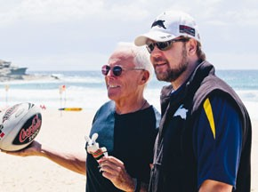 Giorgio Armani and Russell Crowe