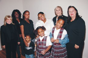 Clockwise from left: Karen Harvey; Blue Project graduates Kindra McMillan, Leonora Tracey and Camille Brown; Bonnie Stone, WIN ceo; Charlotte Prince; MaKayla Tracey, Dishana and Delena Brown.